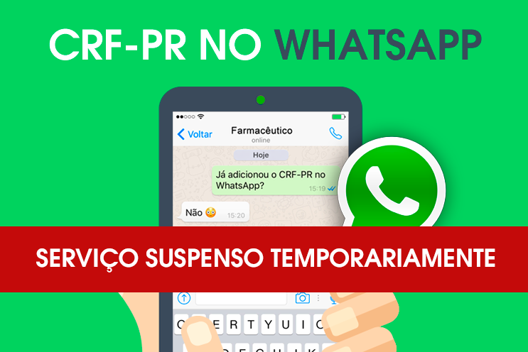 WhatsApp do CRF-PR temporariamente suspenso
